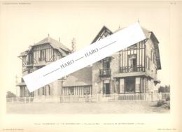 """VILLERS-sur-MER  Photo Et Plan Des Villas """" La Rafale Et Le Tourbillon """" Duprez Architecte - Architecture, Maison (b233) - Architecture"""