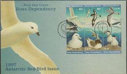 Ross Dependency 1997 Sea Birds 6v Se-tenant  FDC (39801) - Ross Dependency (Nieuw-Zeeland)