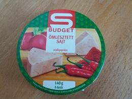 Cheese Queso Kase Label Etikette Etiqueta Hungary Spar Budget Paprika Pepper BOX - Käse
