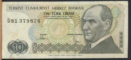 °°° TURKEY - 10 LIRA °°° - Turquie