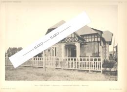 """DEAUVILLE  Photo Et Plan De La Villa """" Les Ouvres """" Chastel Architecte - Architecture, Maison (b233) - Architecture"""