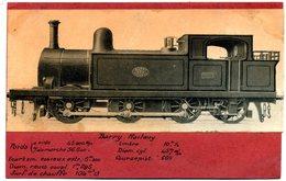 Photo  Sur  Carton - Locomotive  Compagnie Barry Railway  N° 124 De Galle  Du  Sud ( Royaume  Uni ) En  1889 - Reproductions