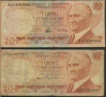 °°° TURKEY - 20 LIRA 1930 1970 °°° - Turchia