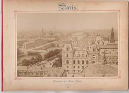 Photo PARIS Sur Carton Recto : Panorama Des Huit Ponts, Verso : Arc De Triomphe De L'Etoile Voir Description - Photos