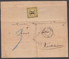 """Mi-Nr. Landpost 2y, EF Auf Faltbrief Mit Inhalt """"Bonndorf"""", 1871, Registraturbug, Lagerspuren - Baden"""