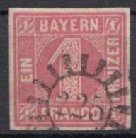 "Mi-Nr. 3, Vollrandig, Sauberer GMR, ""225"", O - Bayern"
