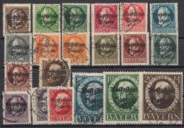 """Mi-Nr. 116/35 A, """"Volksstaat"""", Kplt., Bedarfsstempel, O - Bayern"""
