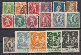 "Mi-Nr. 178/95, ""Abschiedsausgabe"", 1920, Kplt., Nicht Geprüft, O - Bayern"