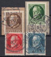 """Dienst, Mi-Nr. 12/5, """"Ludwig"""" Mit Lochung """"E"""", Saubere Bedarfsstücke, O - Bayern"""
