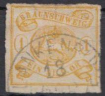 Mi-Nr. 14 A, Durchstochen, Teils Scherenschnitt, Sauber Gestempelt, O - Braunschweig