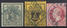 Mi-Nr. 2, 5, 14, 3 Sauber Gest. Werte, Meist Voll- Bis Breitrandig, O - Hannover