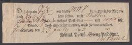 """Postschein """"Stettin"""", 23. Juli 1816 - Preussen"""