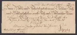 """Vorphila:"""" Hohenstein"""", Dienstbrief 1802 Nach Leipzig Mit Ergebenheitsadresse Und Inhalt - Sachsen"""