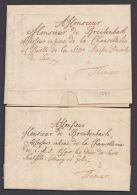 Vorphila: 2 Briefe 1743 An Monsieur De Breitenbach (Assessor) In Themar, Beide Mit Inhalt - Thurn Und Taxis