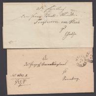 """""""Meiningen"""", 2 Dienstbriefhülle, 1848 Mit L2 Und 1856 Mit K1 - Thurn Und Taxis"""