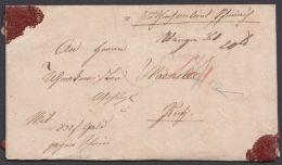 """""""Wangen"""", 6. Okt. 1846 """"Wertbrief Gegen Schein"""" - Wuerttemberg"""