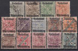 """Mi-Nr. 258/70, """"Volksstaat"""", Kplt. Mit 269 A, B, O - Wuerttemberg"""