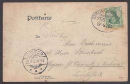 """""""Berlin- Jüterbog"""", Bedarfs- AK, 1903 - Deutschland"""