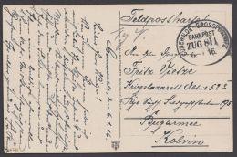 """""""Cunewalde- Grosspostwitz"""", Feldpost, 1916 - Deutschland"""