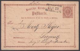 """Mi-Nr. DR P1, """"Frankenstein- Rothenburg"""", L3 Auf Bedarfskarte Nach Liegnitz - Briefe U. Dokumente"""