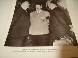 AFFICHE PHOTO  ENTREVUE CHAMBERLAIN ET HITLER A GODESBERG  1938 - 1939-45