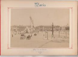 Photo PARIS Sur Carton Recto : Place De La Concorde , Verso :  Ensemble De La Madeleine - Voir Description - Photos