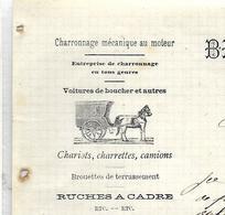 Facture Lettre 1906/ BELGIQUE / CURFOZ  NOIREFONTAINE / BRIDOUX-DELVENNE / Charonnage / Voitures De Boucher - Petits Métiers