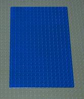 Légo Vintage Baseplate 16 X 24 Ref 3834 Bleu - Lego Technic