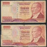 °°° TURKEY - 20000 LIRA 1970 °°° - Turquie