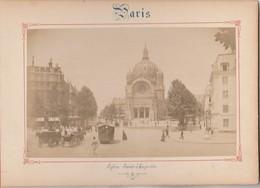 Photo PARIS Sur Carton Recto : Eglise Saint Augustin , Verso : Rue De Castiglione - Voir Description - Photos