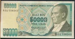 °°° TURKEY - 50000 LIRA 1970 °°° - Turquie