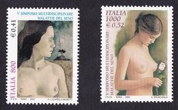 Italie2000XxLutte Cancer SeinY&T2405 & 2406 - 6. 1946-.. Republic