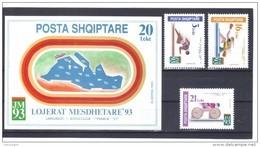 KUR139 ALBANIEN 1993  MICHL 2531/33 + BLOCK 99 Postfrisch SIEHE ABBILDUNG - Albanien