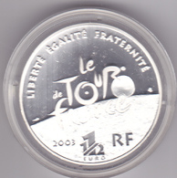 FRANCE EURO 2003 Centenaire Du Tour De France étape De Montagne BE 1,50 € En Argent - Frankrijk