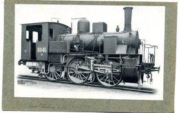 Photo  Sur  Carton - Locomotive  Vapeur   état  Italien   N°  8846 - Reproductions