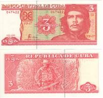 "CUBA  3  Pesos   ""Che Guevara""    P127b    2005    UNC - Cuba"