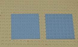 Légo 2x Plate 8x8 Ref 42534 Gris - Lego Technic