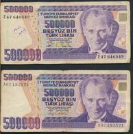 °°° TURKEY - 500000 LIRA 1970 °°° - Turchia