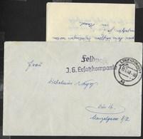 FELDPOST - J.G. ERLATZATZKOMPANIE - BUSTA CON LETTERA DA LINZ (DONAU) - 10.06.1940 - Briefe U. Dokumente