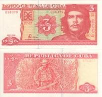 "CUBA  3  Pesos   ""Che Guevara""   New Date  2006    ( P127c )       UNC - Cuba"