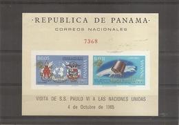 Panama - Visite Du Pape PaulVI ( BF 96 Non Dentelé XXX -MNH) - Panama