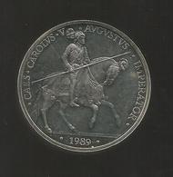 ESPAÑA / SPAIN / SPAGNA - 5 ECU ( 1989 ) - CARLOS V - PLATA SILVER - [ 5] 1949-… : Regno