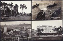 9 X ORIGINAL OLD SILVER GELATINE PHOTOCARDS SINGAPORE - UNUSED - L@@K AT 9 SCANS !! - Singapour