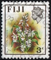 FIJI, FLORA, ORCHIDEE, CALANTHE FURCATA, 1972, FRANCOBOLLI USATI  Michel 278X   Scott 307 - Fiji (1970-...)