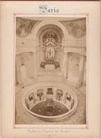 Photo PARIS Sur Carton Recto : Tombeau De L'Empereur Aux Invalides , Verso : Le Pont Alexandre III - Voir Description - Anciennes (Av. 1900)