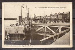 CPA 50 - CHERBOURG - ( CH509 ) Gare Maritime  Transbordement Des Passagers En 1909 - Cherbourg