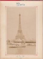 Photo PARIS Sur Carton Recto : La Tour Eiffel , Verso : La Chambre Des Députés - Voir Description - Photos