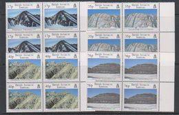 British Antarctic Territory (BAT) 1995 Geological Structures 4v Bl Of 4 ** Mnh (39804C) - Brits Antarctisch Territorium  (BAT)