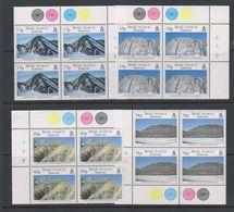 British Antarctic Territory (BAT) 1995 Geological Structures 4v Bl Of 4 ** Mnh (39804D) - Ongebruikt