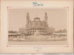 Photo PARIS Sur Carton Recto : Le Trocadéro , Verso : Cascade Du Bois De Boulogne - Voir Description - Photos